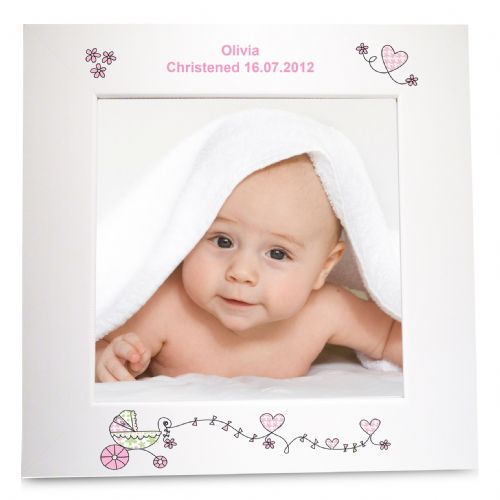 Personalised Whimsical Pram White 6x4 Frame